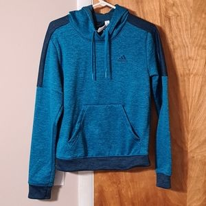 Adidas Pullover Hoodie Sweater Blue Size Small